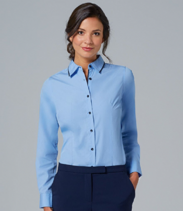 10569 SOL'S Ladies Baxter Long Sleeve Contrast Fitted Shirt